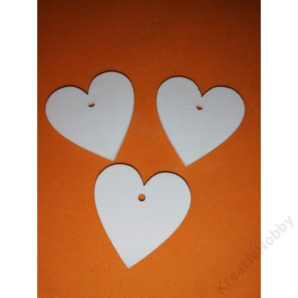 Fa szív,fehér 4x4cm 3db/cs