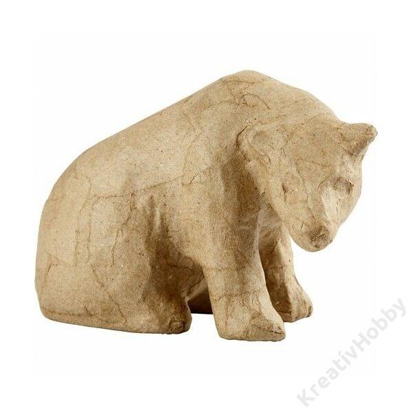 Papírmasé figura, Jegesmedve, 10cm