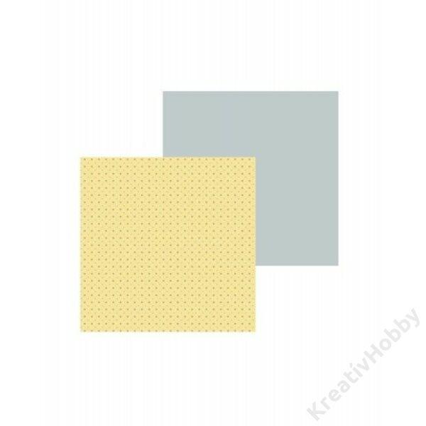 Origami papír, 15*15cm, 80g, 60lap/cs, apró pöttyös, sárga-szürke