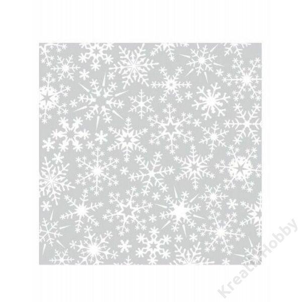 Origami papír (transzparens), hópehely mintával