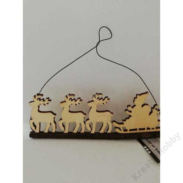 Karácsonyi dekoráció akasztós,télapós 22cm