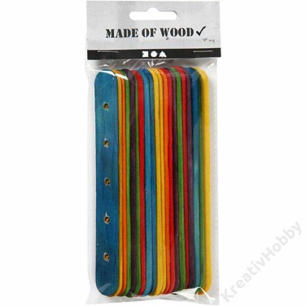 Fa spatula színes, 15cm 20db/cs