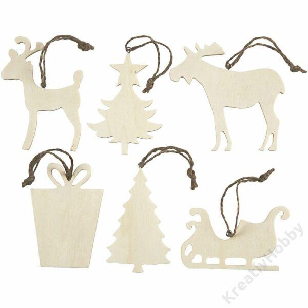 Karácsonyfadísz7-9cm,6cs,Téli figurák
