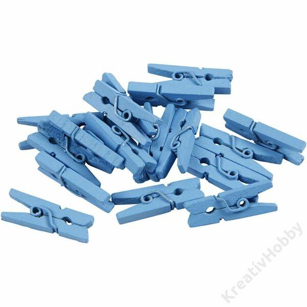 Színes facsipesz, 2,5cm, 36db/cs - Kék