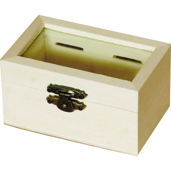 Minidoboz, üvegbetéttel 9 x 4,7 x 5,5 cm