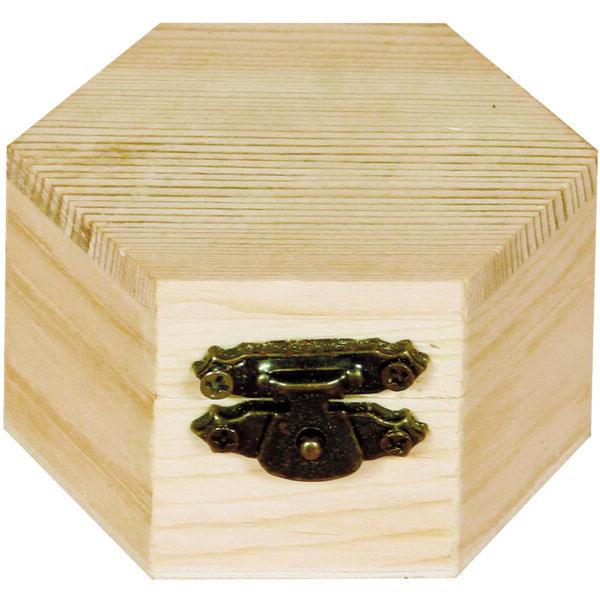 Minidoboz, hatszög 6 x 4 cm