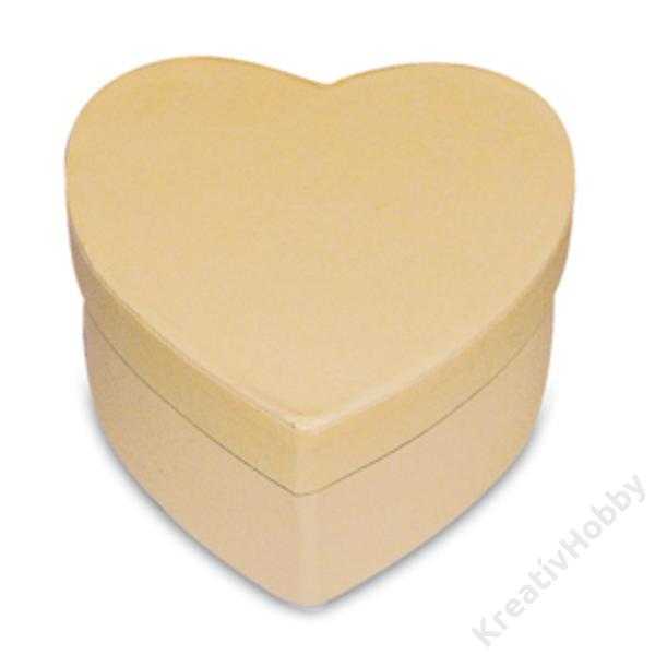 Szív alakú doboz 10,5x9,5x5 cm