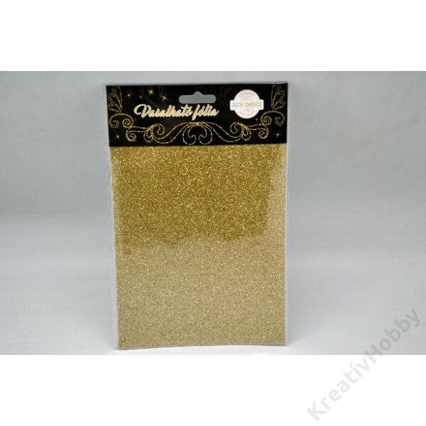Vasalható fólia,glitteres,arany 15*20cm 2db/cs