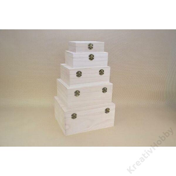 Fa doboz gömbölyitett tetővel,19,5*24cm
