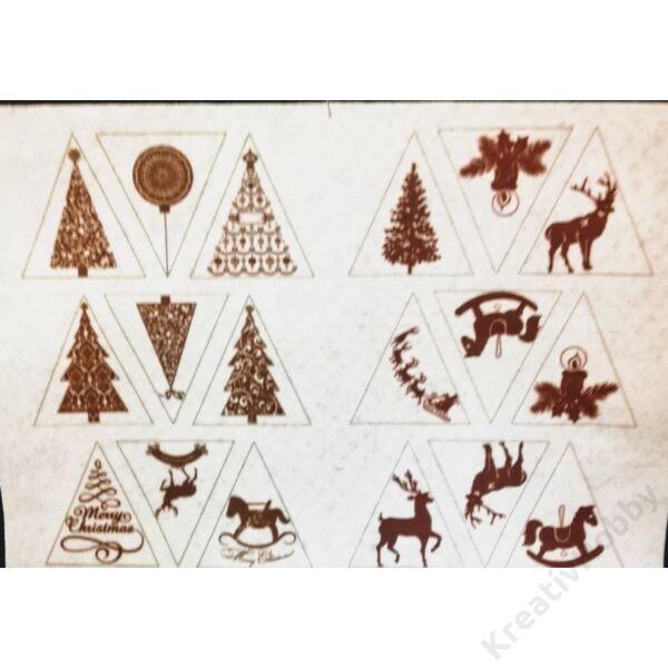 Mintás filclap A/4,Karácsonyi