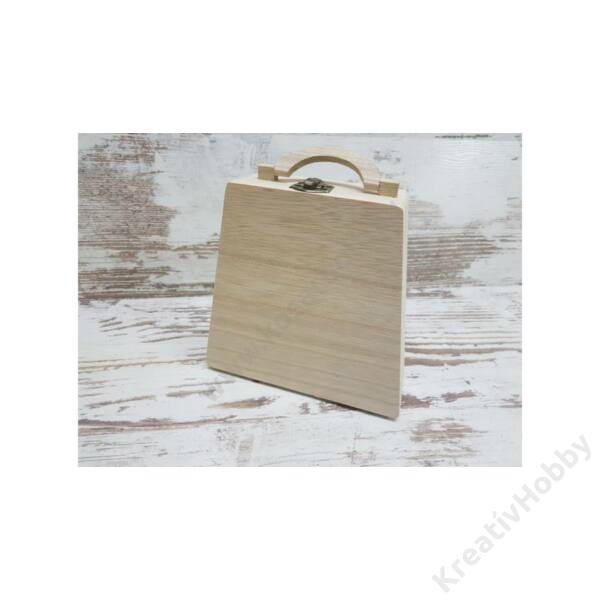 Táska alakú fa doboz