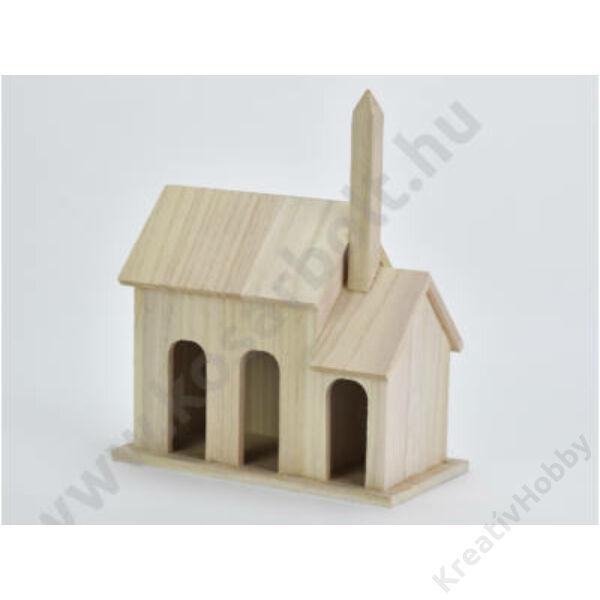 Natúr fa templom,11*21cm,magasság 25,5cm