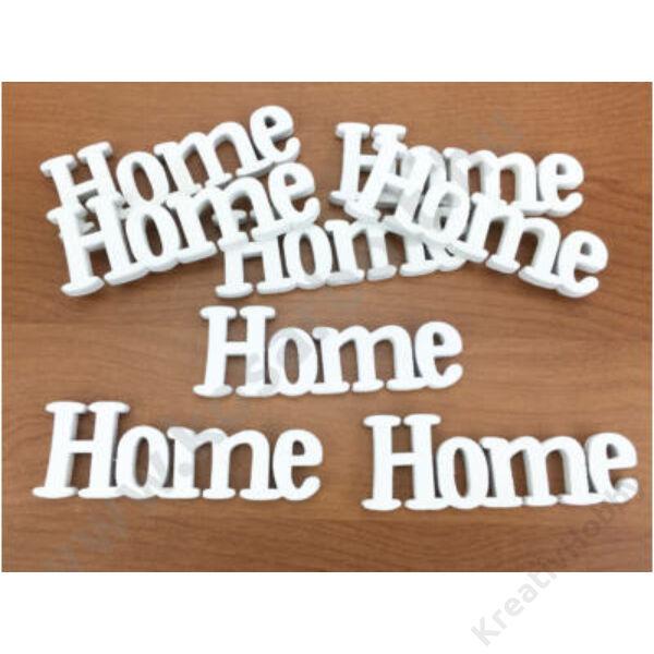 """Lézervágott fa felirat fehér """"HOME"""""""