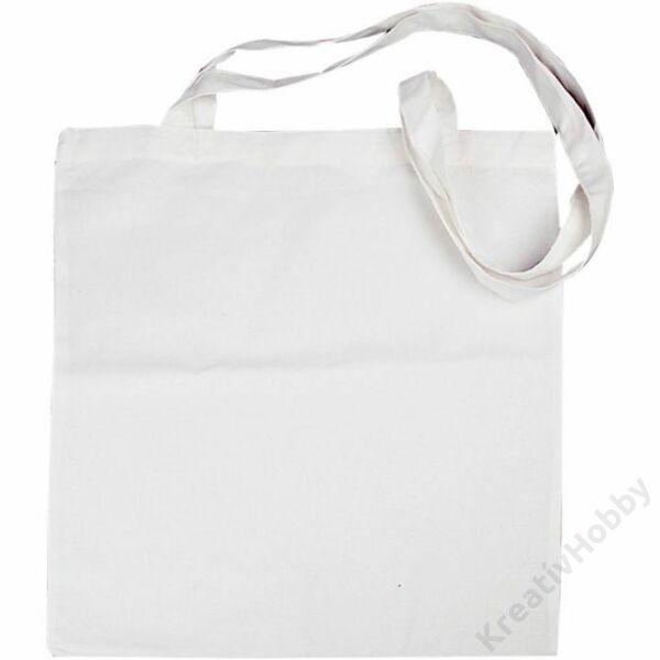 Bevásárló táska fehér 38x42 cm hosszú füllel