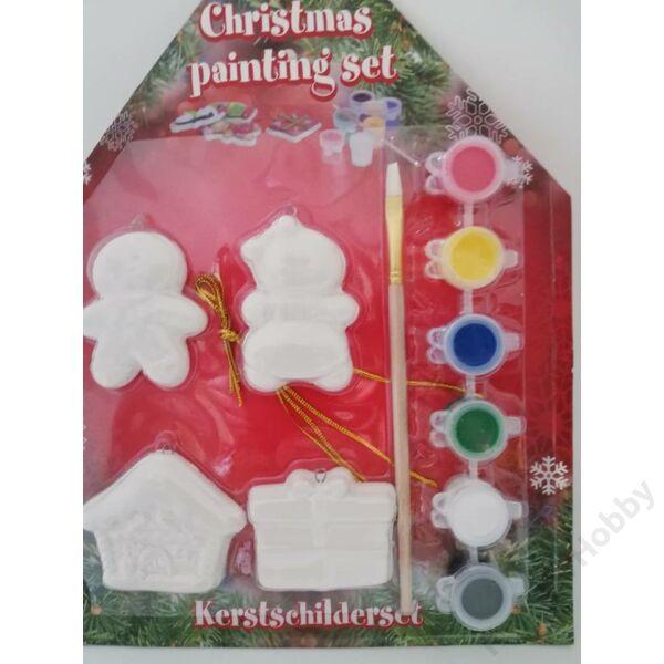 Karácsonyi kifestő,házikós