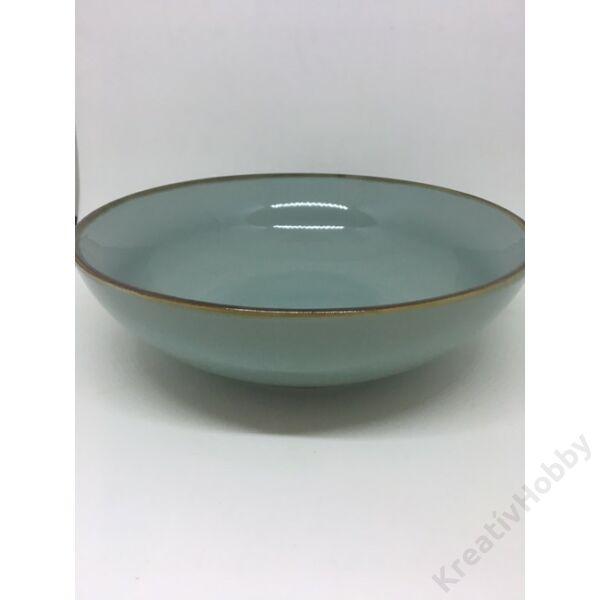 Porcelán tál,zöld