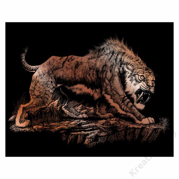 Karckép, réz - Kardfogú tigris