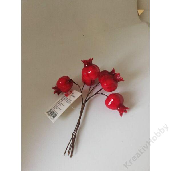 Bogyós termés ,piros 12cm 6db/cs