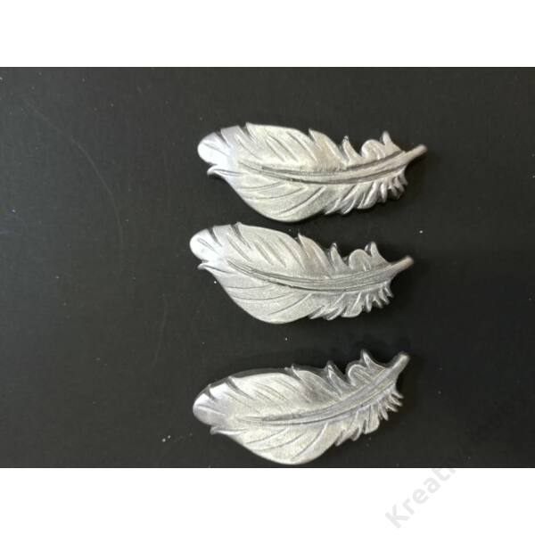 """Öntapadós figurák """" Levél,ezüst"""" 3db/cs 4,5*2cm"""