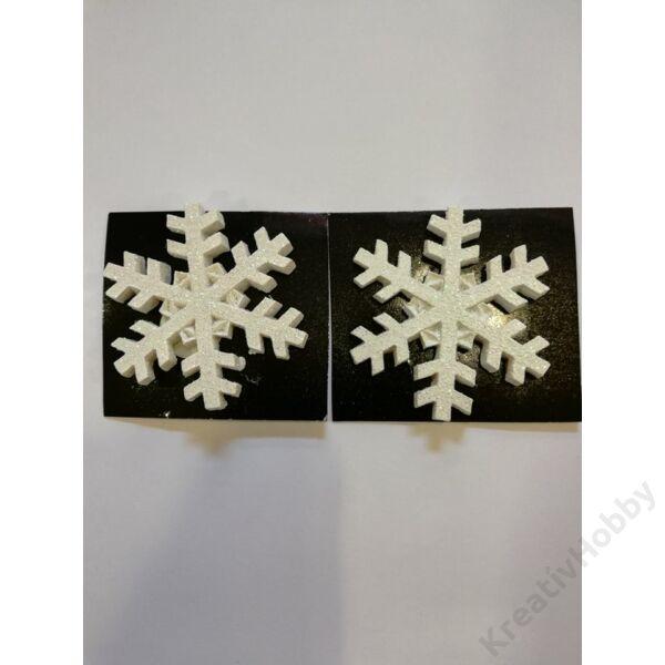 Hópehely glitteres,2db/cs 5*5cm
