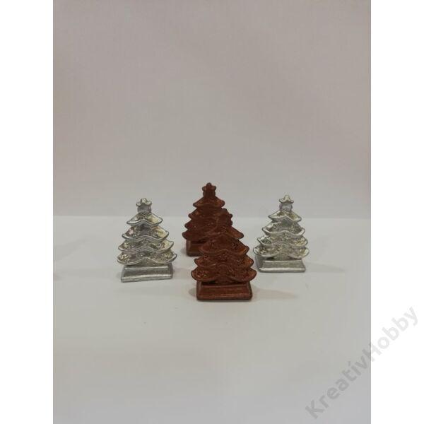 Öntapadós fenyő, Ezüst-Bronz 2db/cs 3,5*2cm