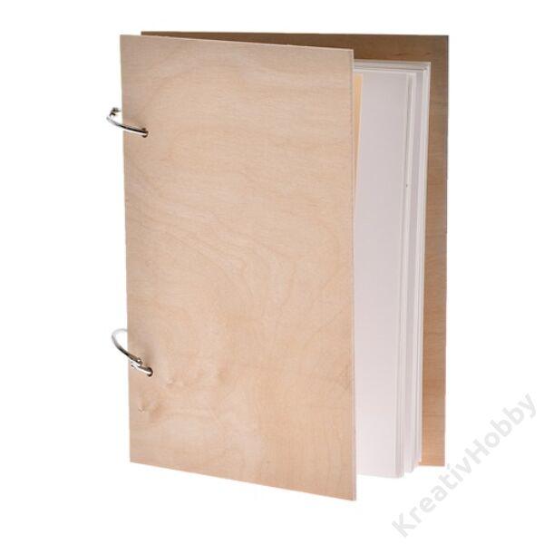 Fa borítójú füzet 15*27cm