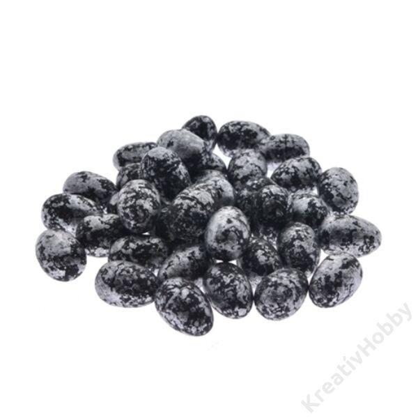 Tojás,fekete,1,8*3cm 36db/cs