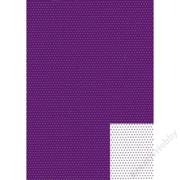 Happy Papír A/4 kétoldalas, lila pöttyös