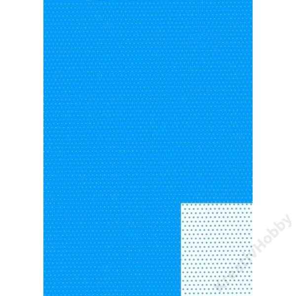 Happy Papír A/4 kétoldalas, türkizkék pöttyös