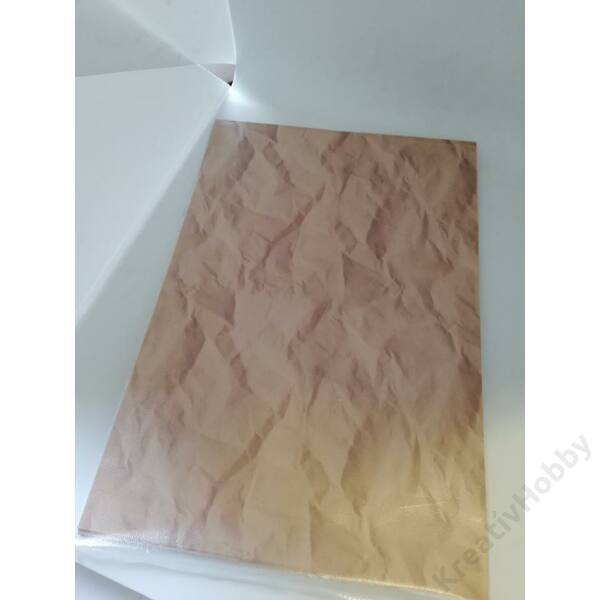 Kétoldalas mintás kartonok, gyűrött papír hatású