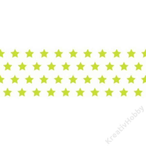 Happy Papír A/4 kétoldalas, sárga csillag mintás