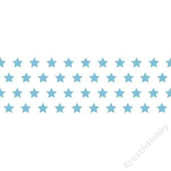Happy Papír A/4 kétoldalas, világoskék csillag mintás