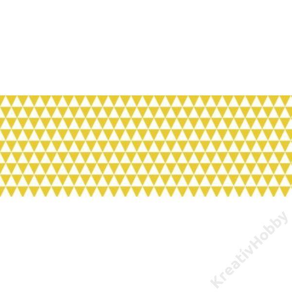 Happy Papír A/4 kétoldalas, háromszögmintás, sárga