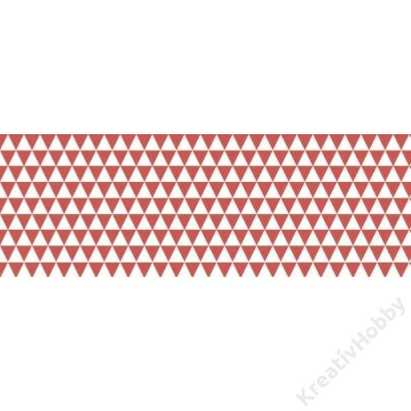 Happy Papír A/4 kétoldalas, háromszögmintás, piros