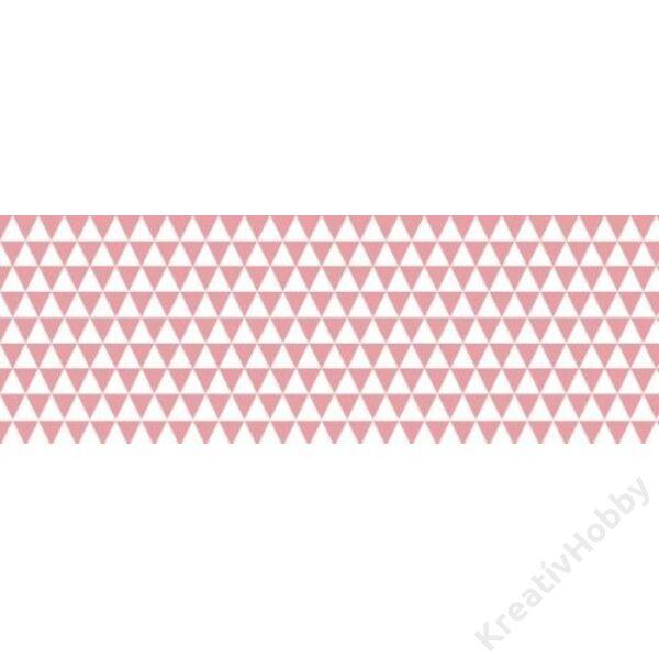 Happy Papír A/4 kétoldalas, háromszögmintás, rózsaszín