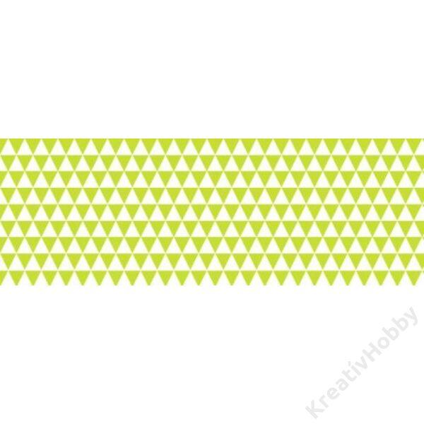 Happy Papír A/4 kétoldalas, háromszögmintás, vil. zöld