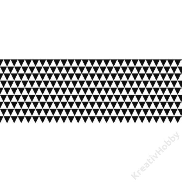 Happy Papír A/4 kétoldalas, háromszögmintás, fekete