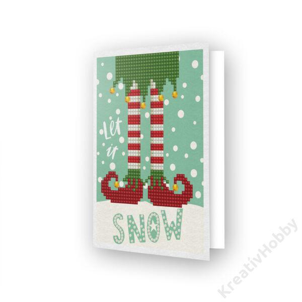 DD Greeting Card LET IT SNOW