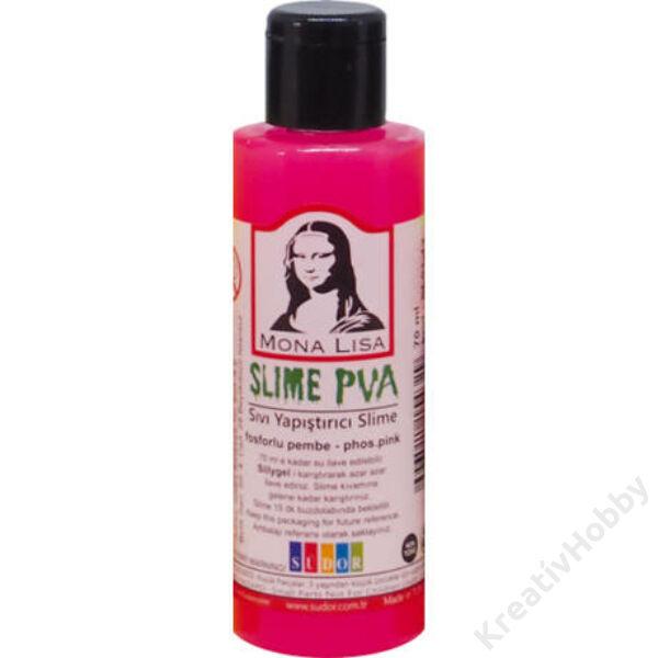 Slime ragasztó 70ml neon pink