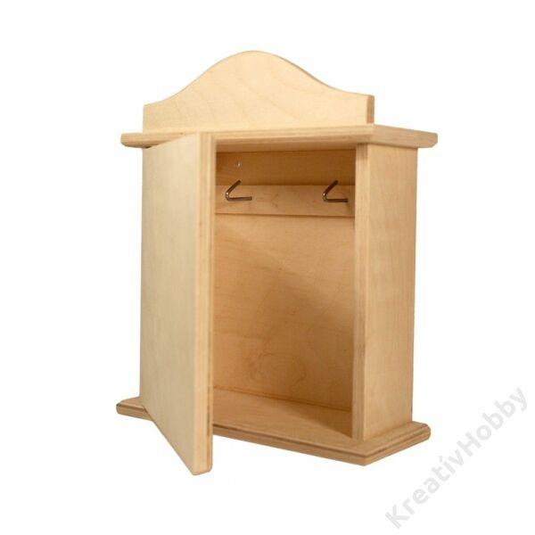 Fa kulcstartó szekrény egysoros