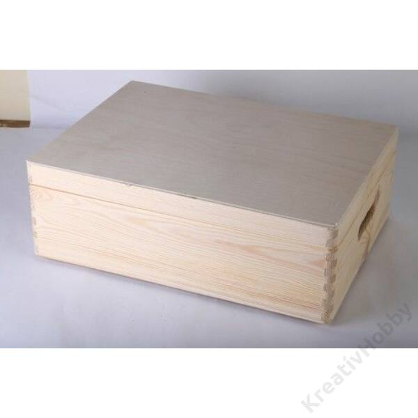 Fedeles láda, lapos 30x40x14cm