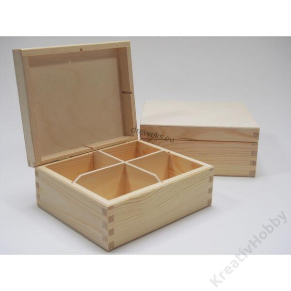 Teás doboz, 4 rekeszes