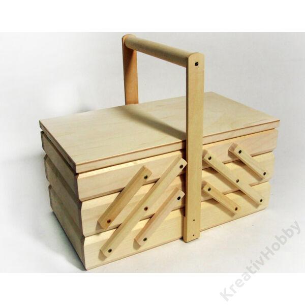 Fa varrós doboz