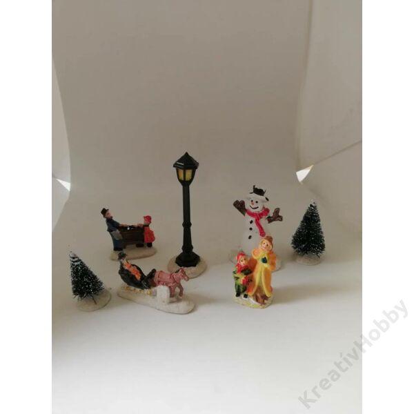 Karácsonyi mini figurák 7db-os