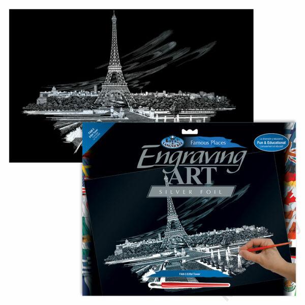 Karckép, ezüst, 286x390,5mm - Eiffel torony