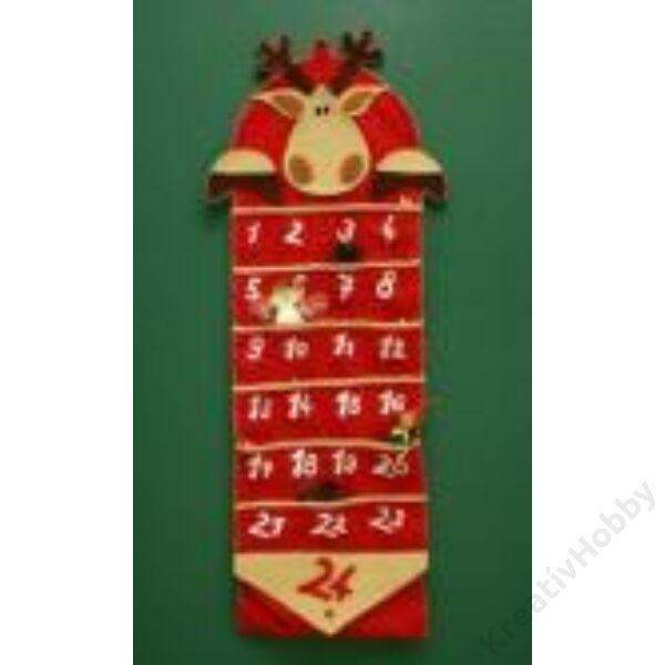 Adventi naptár,szarvas 40*100cm