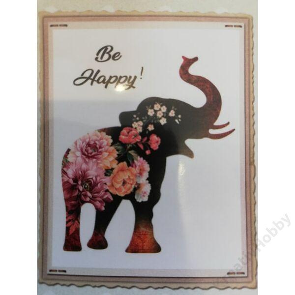 Transzfer textilre 25*35cm Elefánt