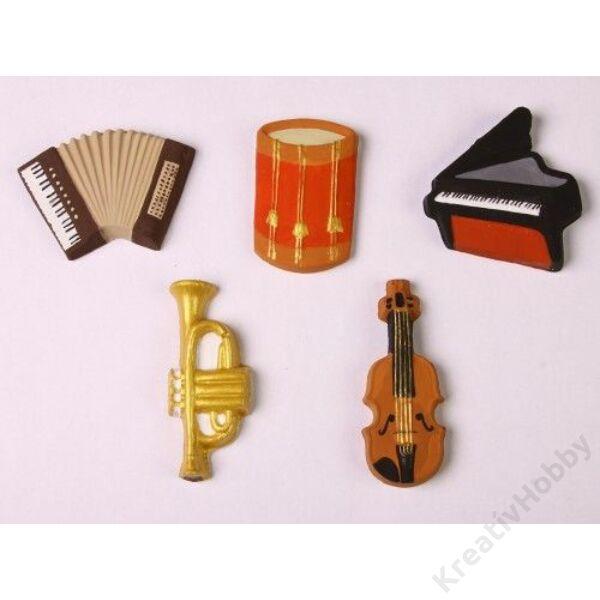 Gipszkiöntő, hangszerek 5db ( 269)