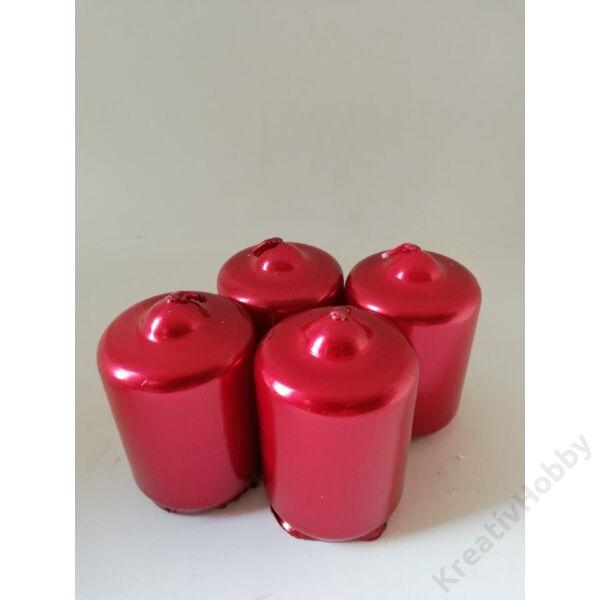 Adventi gyertya metál piros