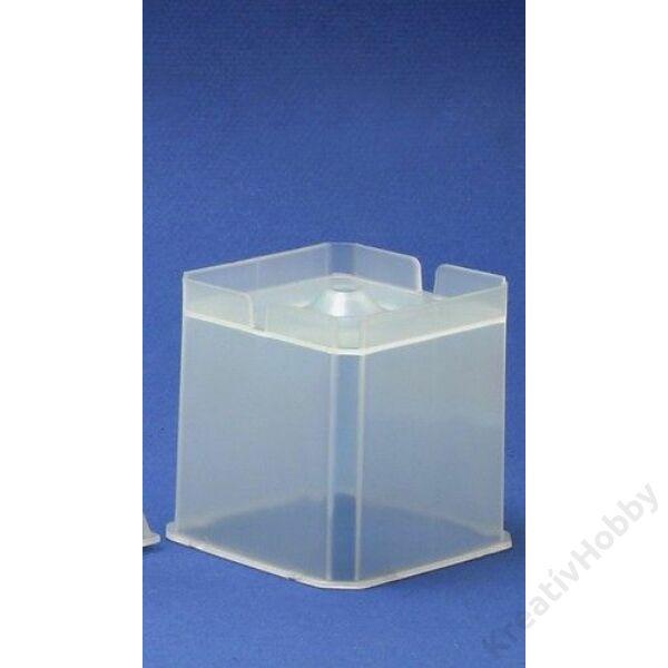 Gyertyaöntő forma kocka 6x6cm